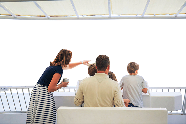 family-back-boat